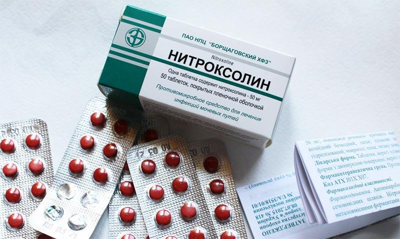 Таблетки Нитроксолин при цистите